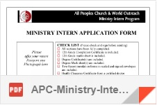 Ministry intern apc ministry intern application form malvernweather Gallery